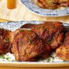 Coxas de frango crocantes e com alho