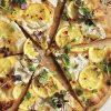 Pizza com Limao e Burrata