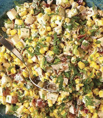 Salada de sopa de milho