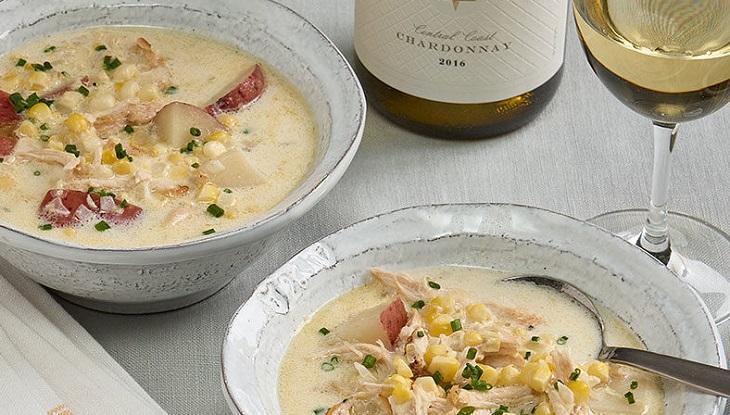 Sopa de frango e milho